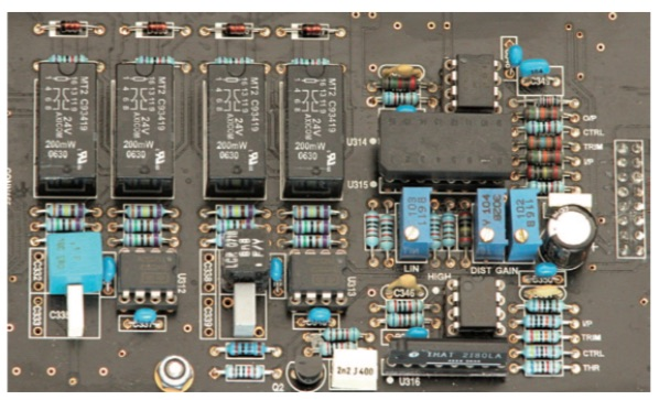 Un particolare del circuito VCA