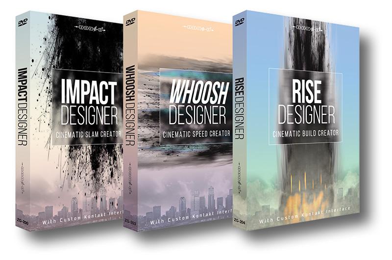 00 Le librerie Impact Designer, Rise Designer e Whoosh Designer di Zero-G realizzate da Alessandro in collaborazione con Dan Graham e Adam Hanley