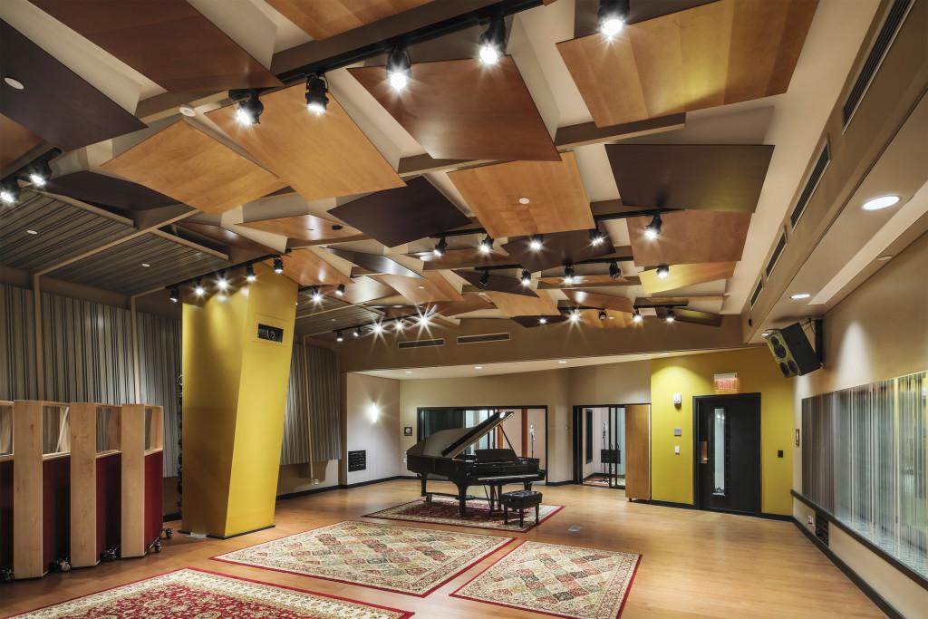 Berklee College of Musci, la live room dello studio 1, probabilmente lalo studio più grande da anni negli USA, con nove studi in totale