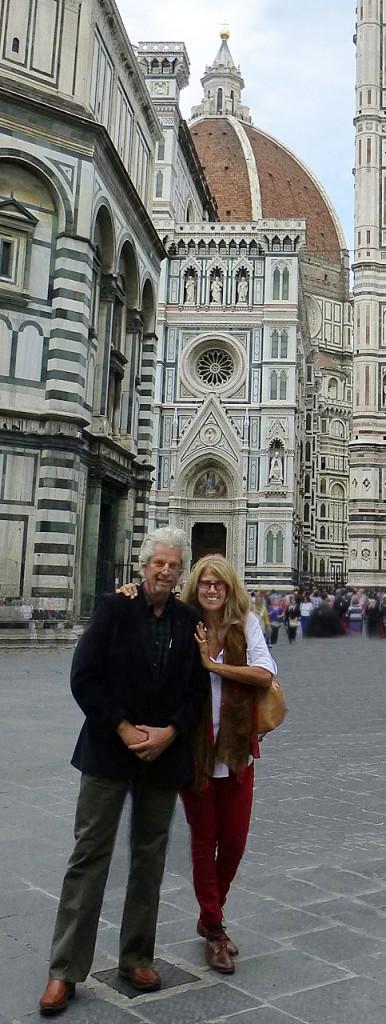 John in Italia con la moglie