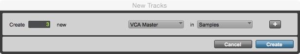 Figura 4 La creazione del VCA Master