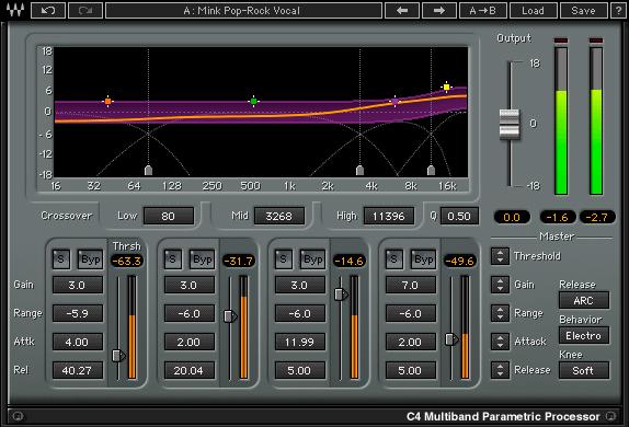 waves c4 multiband compressor plug-in audio virtual