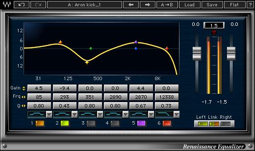 waves renaissance equalizer plug-in audio eq virtual
