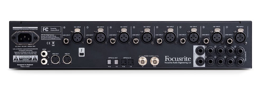 Focusrite Clarett 8PreX interfaccia audio eko music group