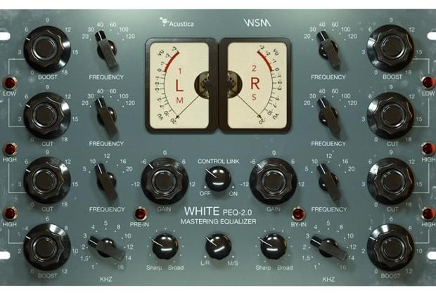 acustica audio PEQ White Eq virtual plug-in pro
