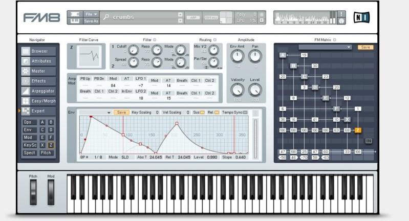 FM8, il synth virtuale a modulazione di frequenze di Native Instruments