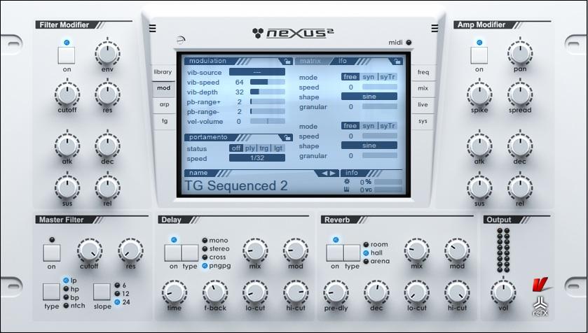Il rompler refx Nexus 2, uno dei virtual instrument più usati nelle produzioni elettroniche e non solo