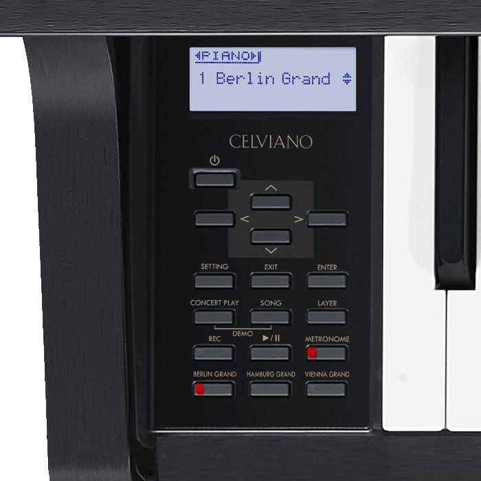 05 Il pannello comandi posto sulla sinistra della tastiera del GP-400