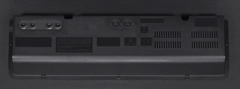 06 Le prese audio e le porte MIDI poste nel pannello inferiore del GP-400