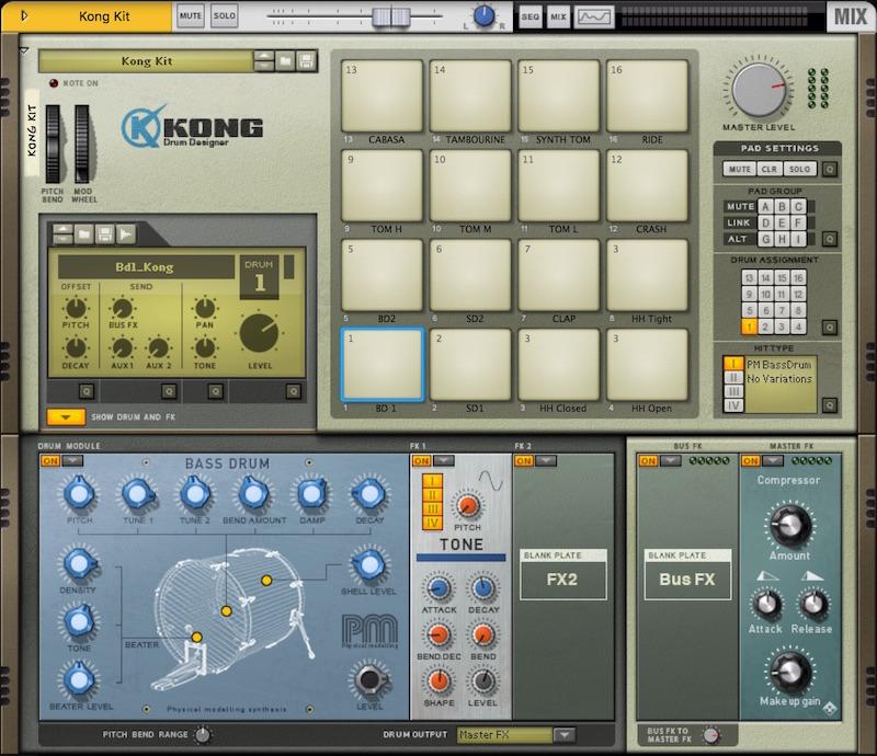 08 La mitica drum machine Kong Drum Designer
