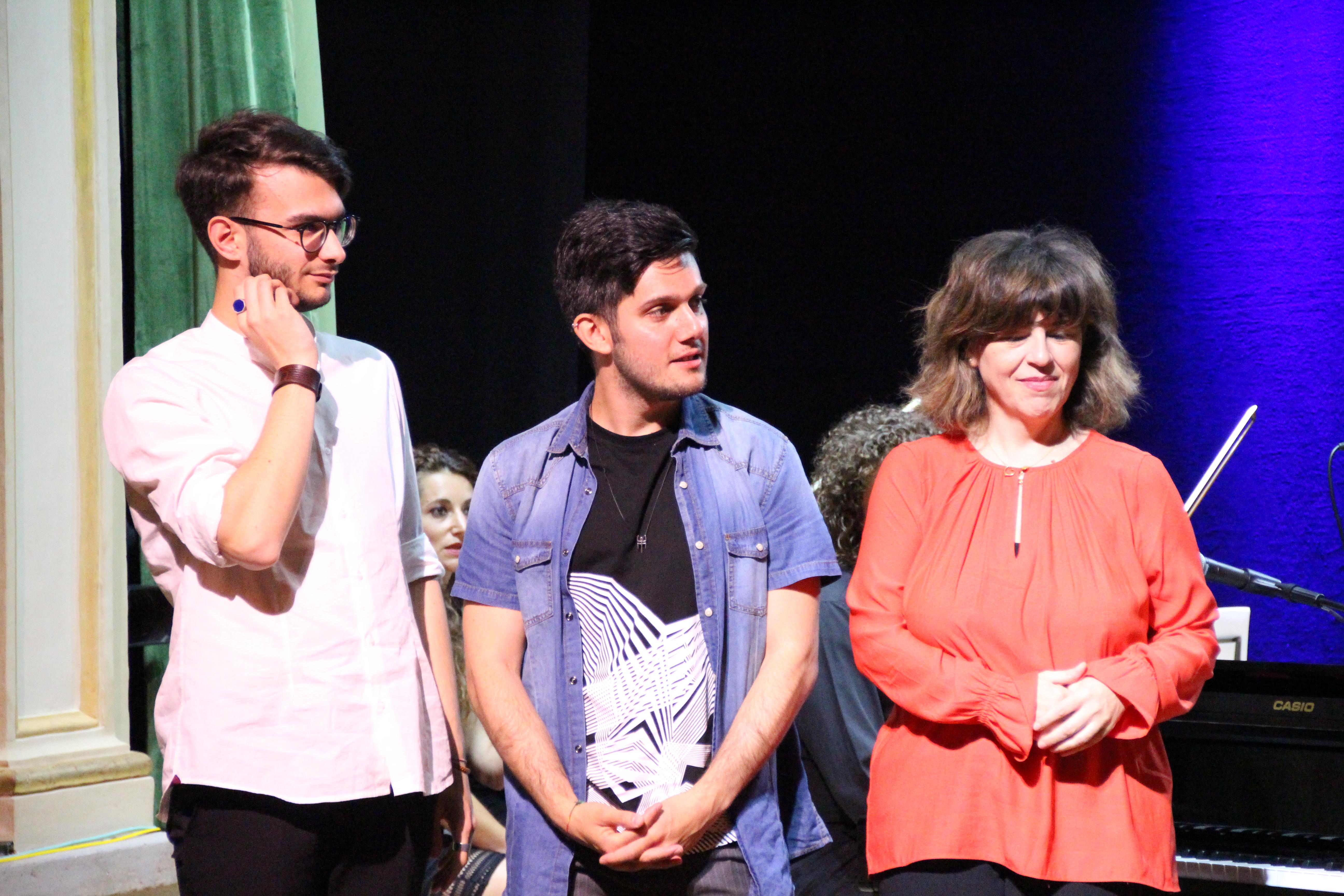 I tre vincitori: da sinistra Davide Epicoco, Alessio Zucca e Maria del Mar Cabezuelo Saenz