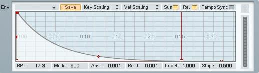 04.2 Decadimento sull'amp envelope che determina la durata del suono
