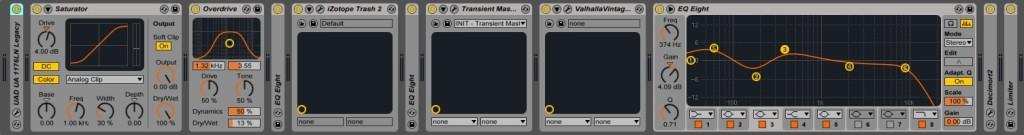 04.5 Signal chain di un Kick su Ableton Live