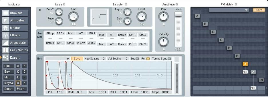 05 Creazione di un clap con il soft synth NI FM8