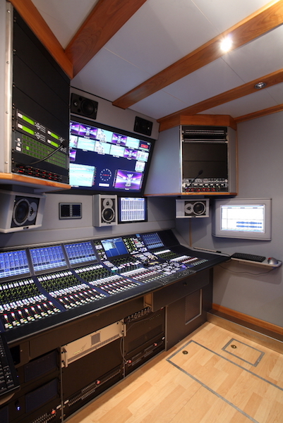 Audio room della regia ExpanderOne di Videe Spa