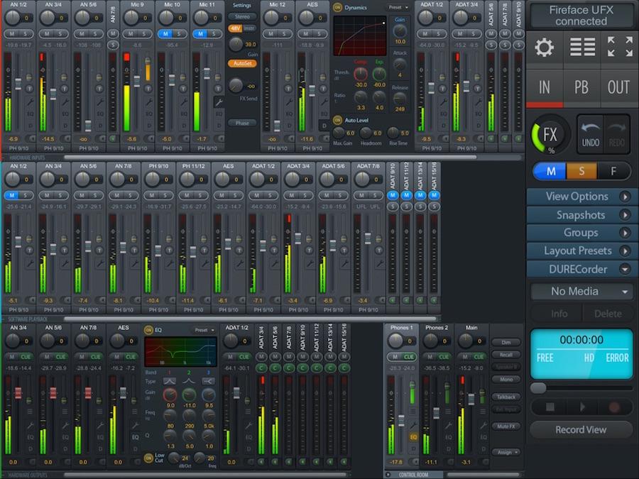 05 TotalMix per iPad con funzione DURecorder