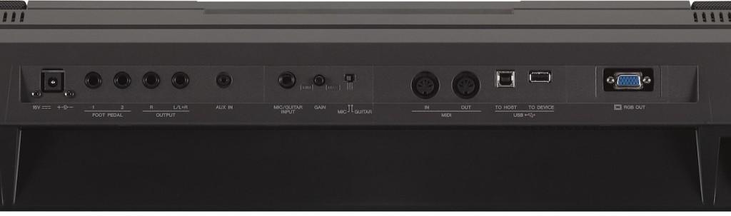 Sul retro sono alloggiate connessioni audio, CV, MIDI I/O, USB e video Out