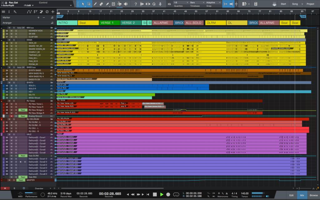 PreSonus Studio One e la timeline di Deliurium