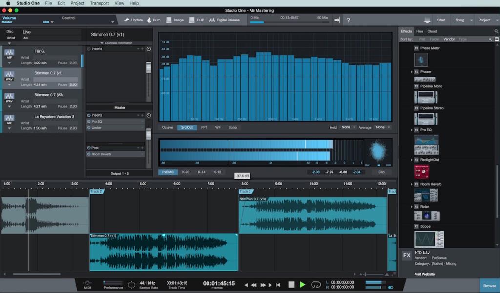 Project Window, ambiente per il mastering