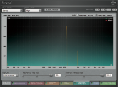 Attitude 1, VU Meter a 0, stereo spread a 7