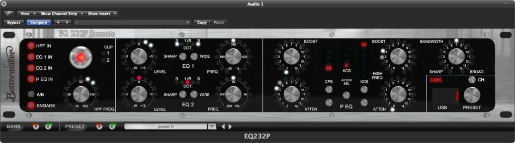 Il plug-in di controllo dell'eq