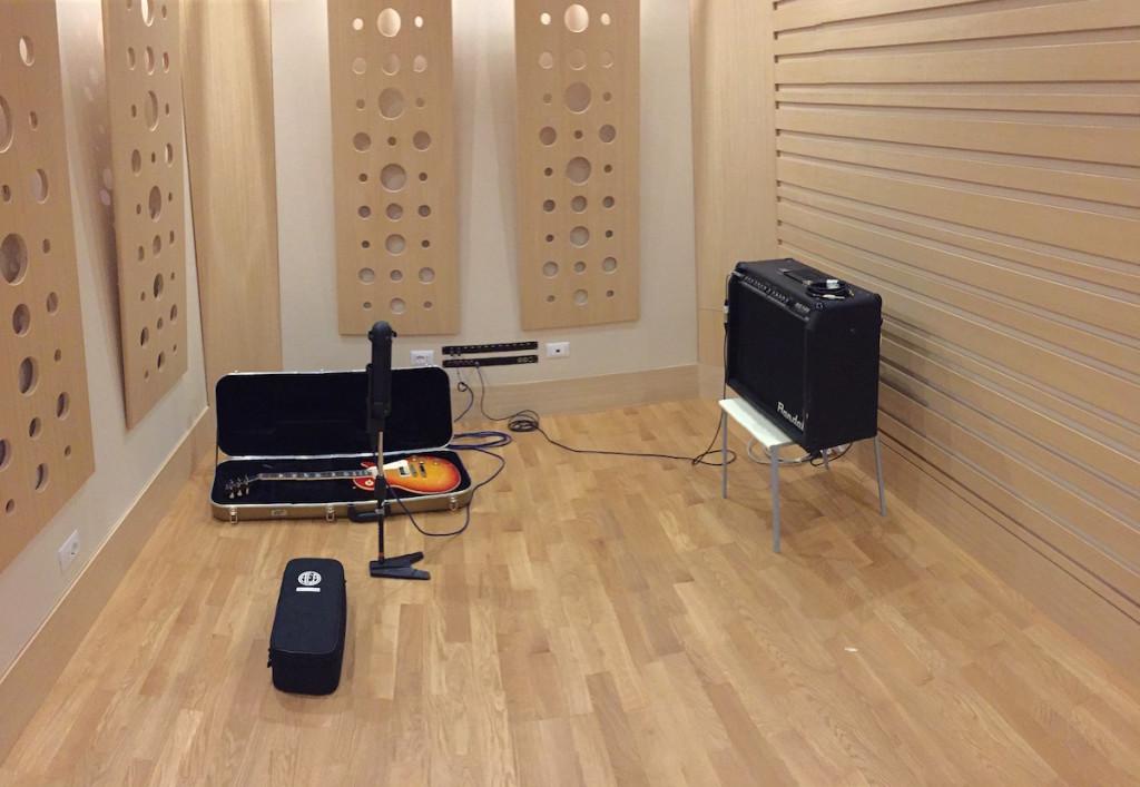 Il setup di ripresa della chitarra
