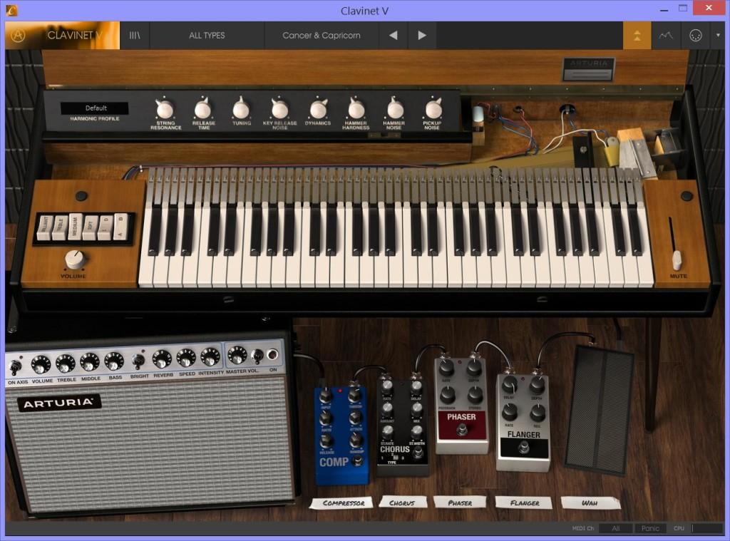 Clavinet V nella modalità con schermo esteso