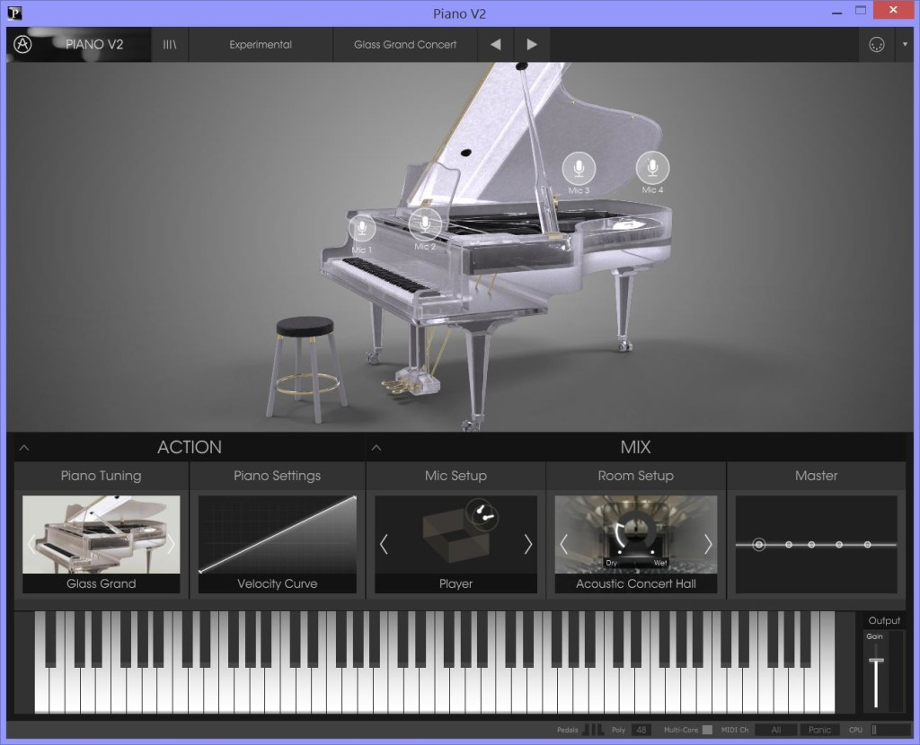 Preset del V Piano 2.0 che simula un pianoforte in vetro!