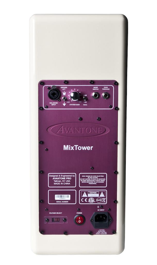 Tutte le connessioni e i controlli si trovano nel pannello posteriore di Mix Tower