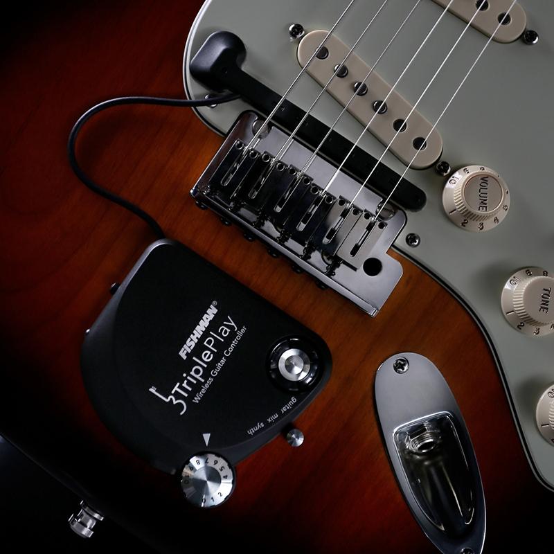 L'hardware Fishman TriplePlay installato su una chitarra elettrica