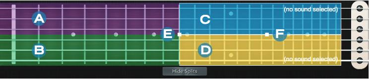 Zone degli split sulla tastiera