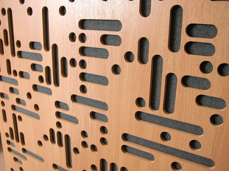 Il disegno geometrico del diffusore in legno