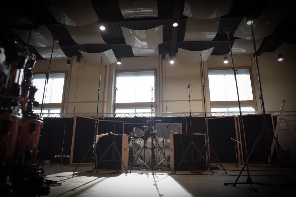 Durante le riprese in una sala dei Galaxy Studio