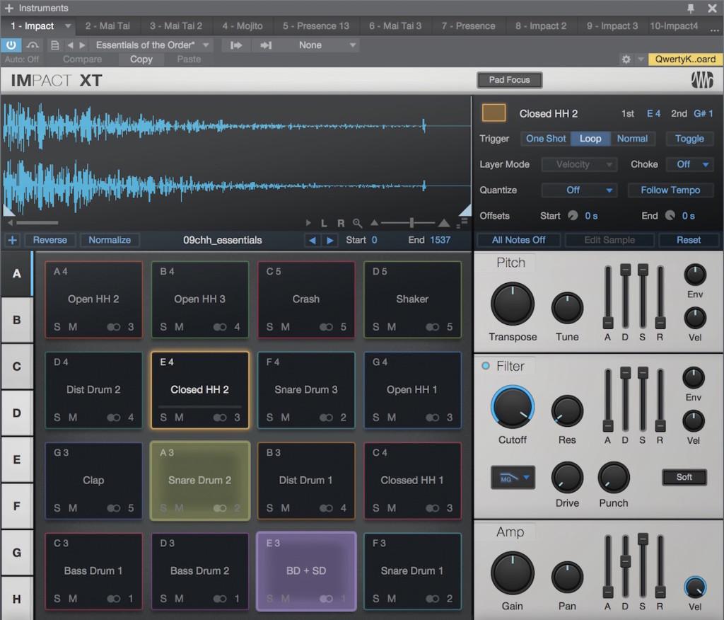 Il nuovo virtual instrument incluso nelle versioni Artist e Professional: Impact XT
