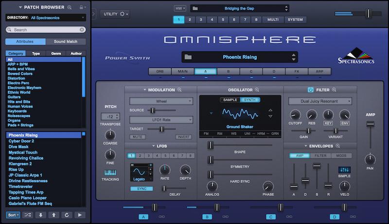 Spectrasonics Omnisphere 2.5 virtual synth sintetizzatore software instrument