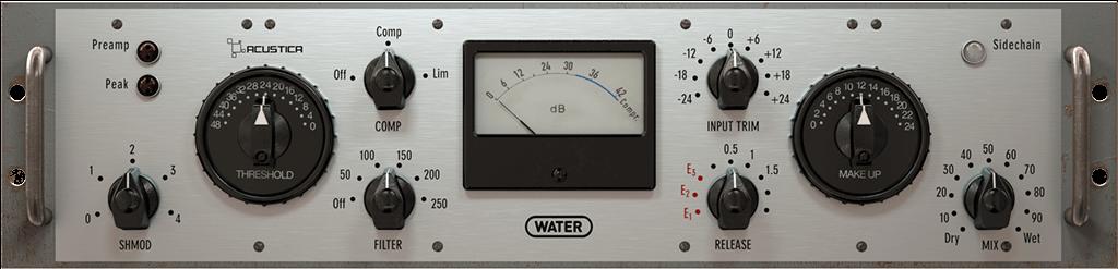 Acustica Audio Water Comp plugin virtual
