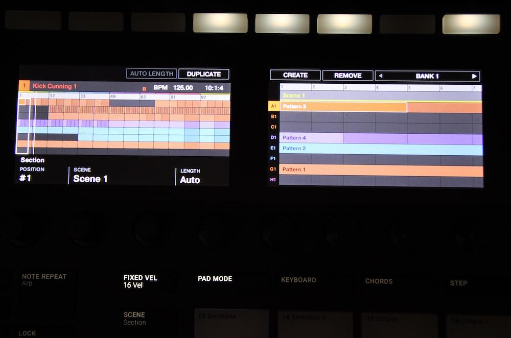 Native Instruments Maschine mkIII display
