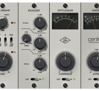 UAD Century Tube channel strip virtual plugin