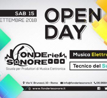 Fonderie sonore Open day scuola school audio recording producer sintesi