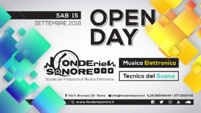 Fonderie sonore Open day scuola school audio recording producer sintesi