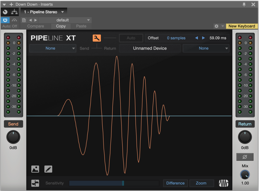 PreSonus Pipeline XT plug-in audio