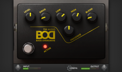 TSE Audio Bass Overdrive virtual plugin audio daw