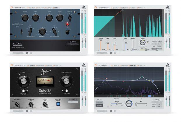 Apogee FX Rack plug-in audio daw fx comp eq vintage modern software