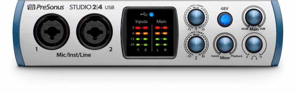 PreSonus Studio 2|4 usb-c interfaccia audio midi music
