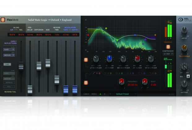 SSL Native FlexVerb plug-in audio reverb
