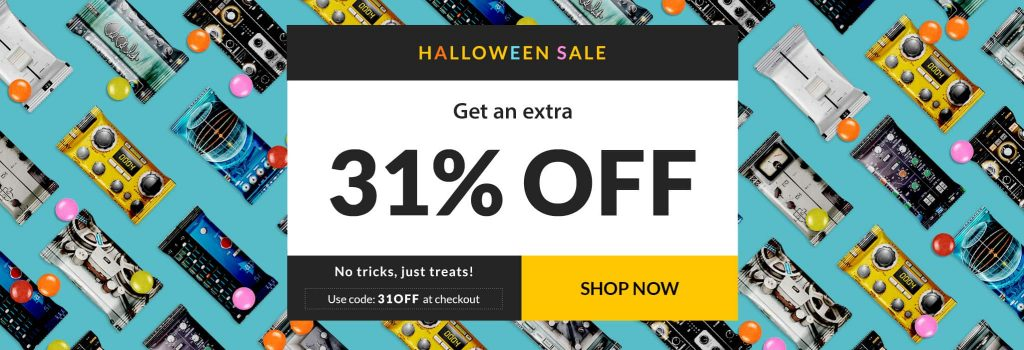Halloween Sale 2018 plug-in virtual instrument digital software waves