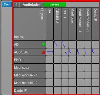 Avid MTRX dante pro tools test audiofader luca pilla