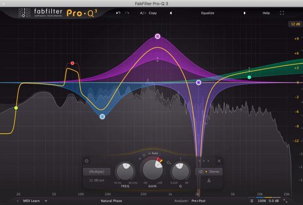 FabFilter Pro-Q 3 plug-in eq dinamico virtual audio itb mix daw