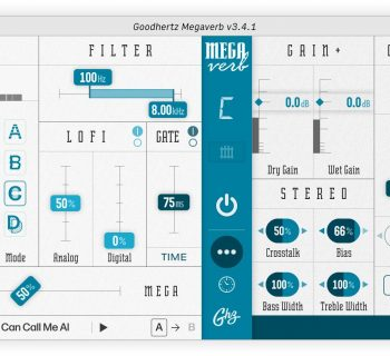 Goodhertz Megaverb reverb plug-in audio daw software virtual