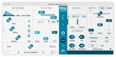 Goodhertz Megaverb reverb plug-in audio daw software virtual